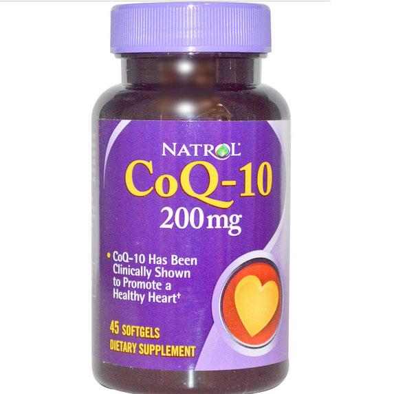 Image of Natrol, Co-Q10 200 mg, 45 Softgels 0047469042615