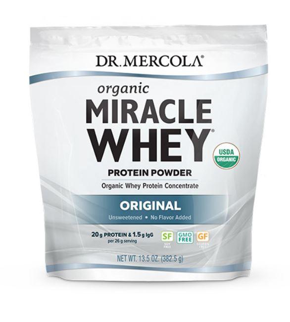 Image of Dr. Mercola, Miracolo del siero di latte, proteine in polvere, originale (454 g) 0810487032810
