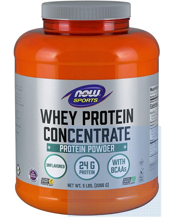 Image of Whey Protein Concentrate - Natural Unflavored (2268 gram) - Now Foods 0733739022998