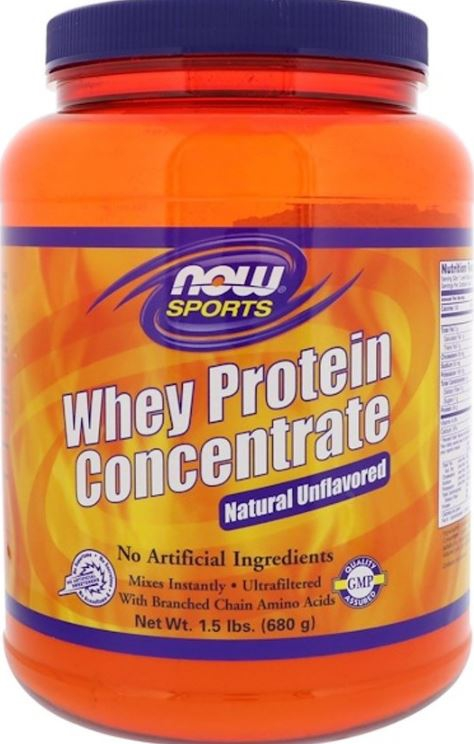 Image of Whey Protein Concentrate - Natural Unflavored (680 gram) - Now Foods 0733739022981