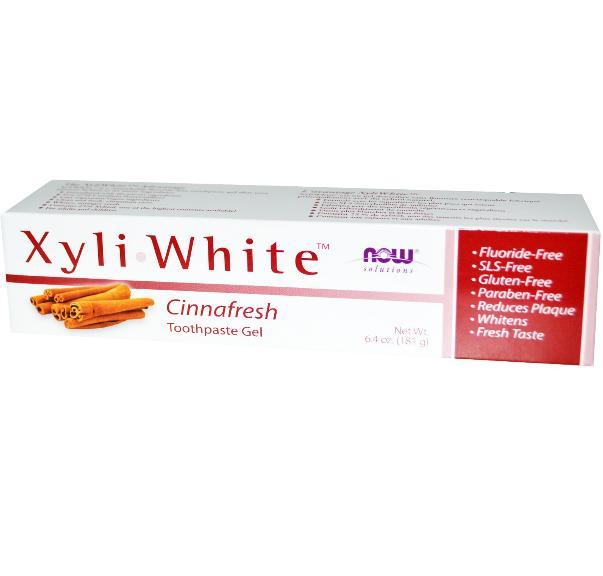Image of Now Foods, Gel dentifricio Xyliwhite, Cinnafresh, 6,4 oz (181 g) 0733739080929