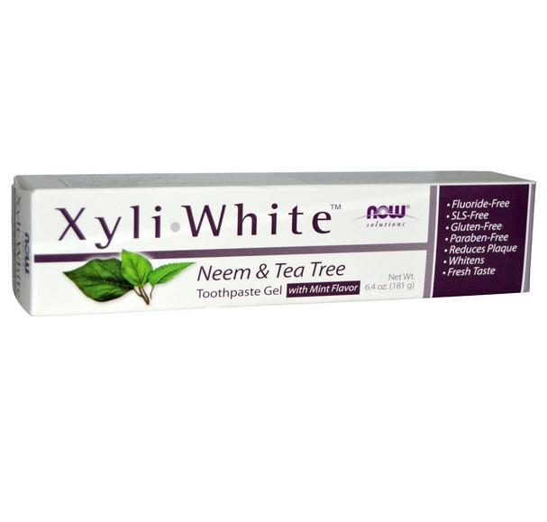 Image of XyliWhite dentifricio Neem & Tea Tree (181 g) - Now Foods 0733739081018