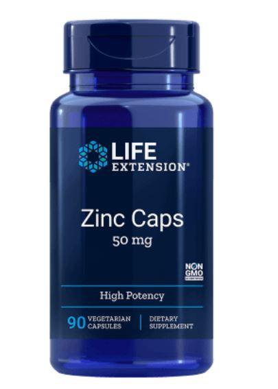 Image of Life Extension, zinco Cappelli con alta potenza 50 mg, 90 Veggie Caps 0737870181392