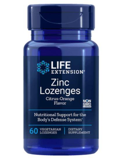 Image of Life Extension, Pastiglie di zinco, naturale gusto arancia citrus, 60 pasticche di Veggie 0737870156161
